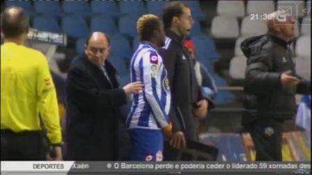 Futbolistas gordos. Ibrahim Sissoko en su primer partido como deportivista