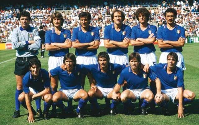 Italia Brasil España 82.Zoff, Tardelli, Scirea, Graziani, Collovati y Gentile. Rossi, Conti, Cabrini, Orialli y Antognoni. Fuente: botefutbol.blogspot