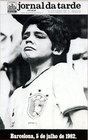 Portada del diario brasileño ''Jornal da tarde'' del día 6 de julio de 1982.