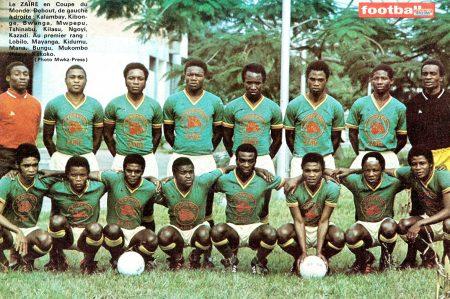 Zaire - actual República Democrática del Congo- fue el primer país del África subsahariana en participar en una Copa del Mundo.