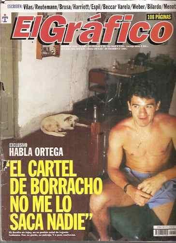 Perfil de Ariel Burrito Ortega. Ortega habla de sus problemas con el alcohol. Fuente: El Gráfico