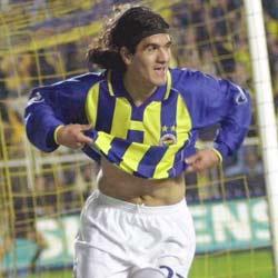Ariel Burrito Ortega en su corta etapa como jugador del Fenerbahçe