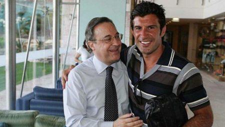 Florentino se presentó a las elecciones con Figo bajo el brazo.