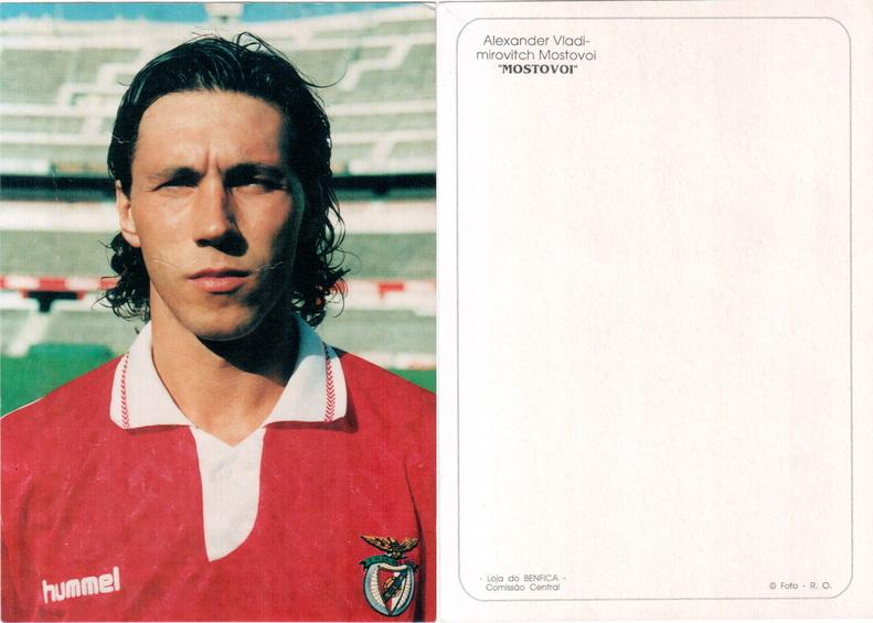 El Zar Mostovoi con la camiseta del Benfica.