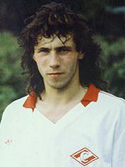 Alexander Mostovoi con la camiseta del Spartak de Moscú.