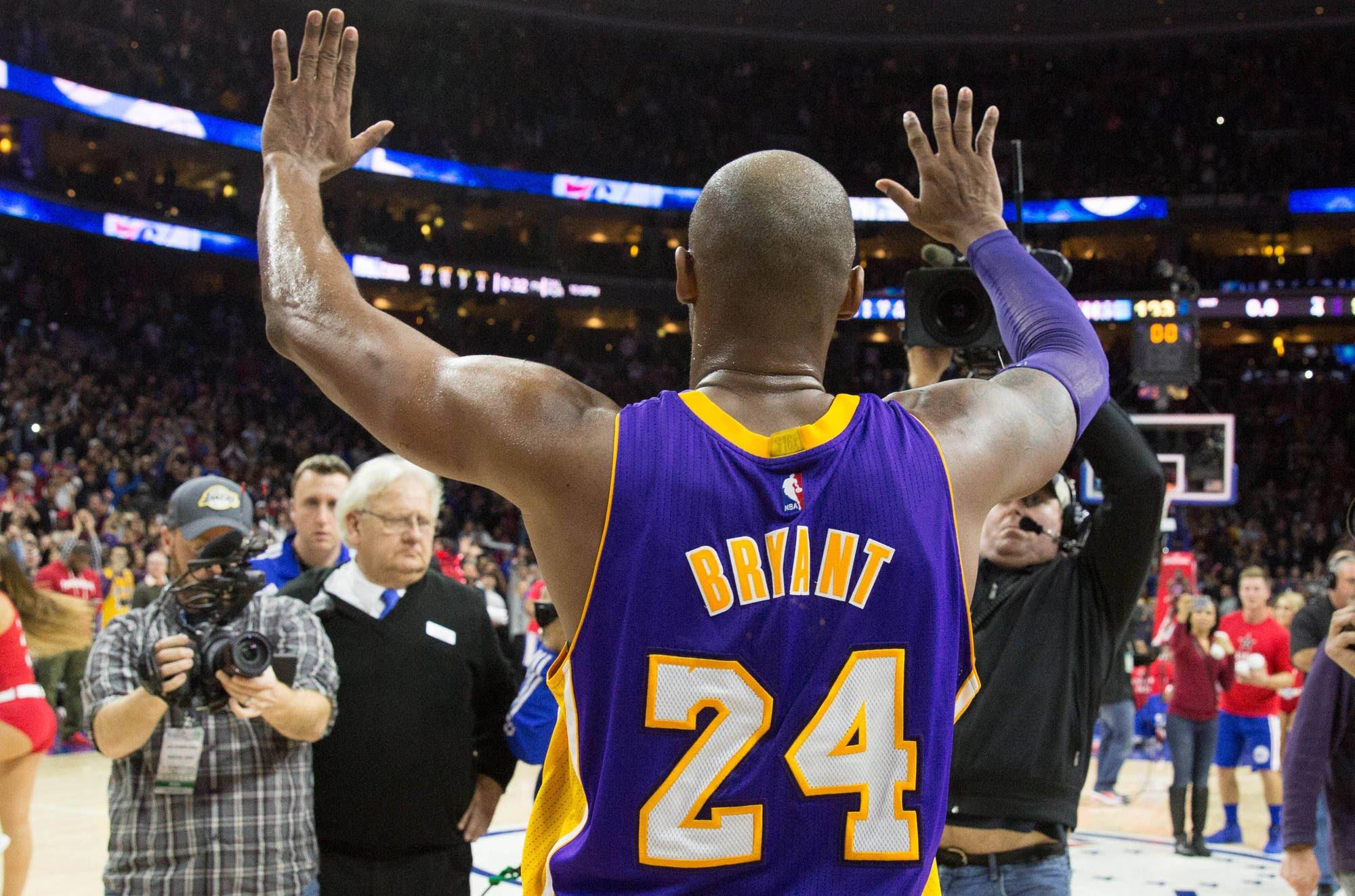 La despedida de Kobe Bryant.