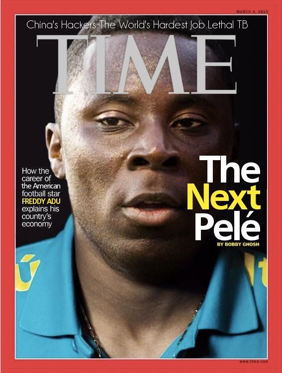 """Portada de la revista Time donde catalogan a Freddy Adu como el """"nuevo Pelé"""""""