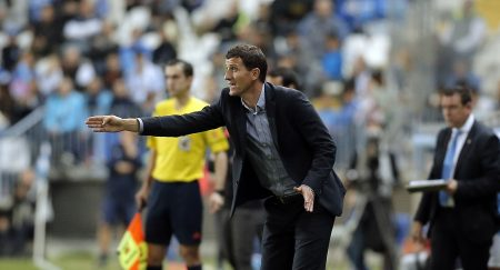 Javi Gracia, como entrenador del Málaga