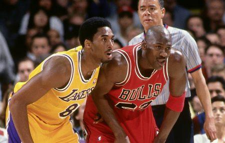 Kobecompartiendo cancha con Jordan en su último año.