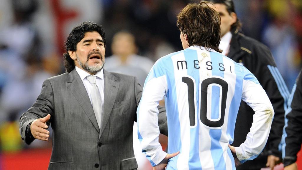 Maradona fracasó como seleccionador.