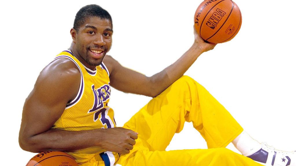 Magic Johnson es uno de los exponentes de Los Angeles Lakers del Show Time.