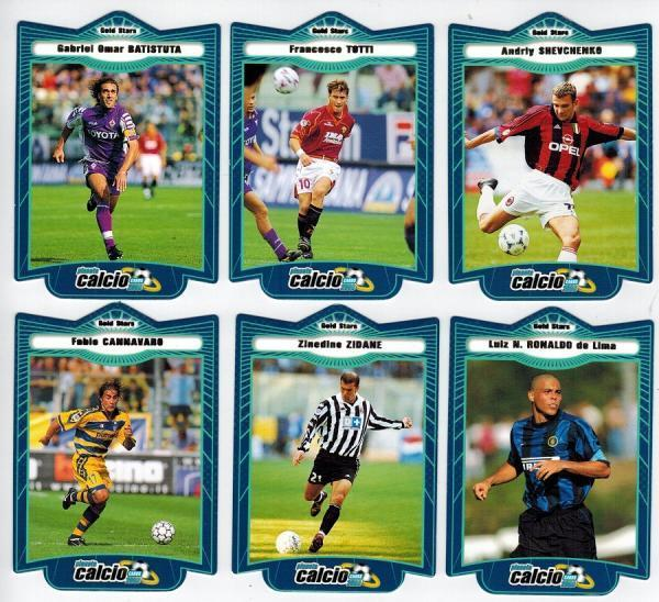 Algunas estrellas del Calcio a finales de los 90.
