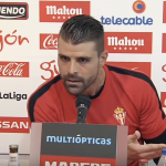 Iván Cuéllar rueda de prensa sporting gijón periodista deportivo
