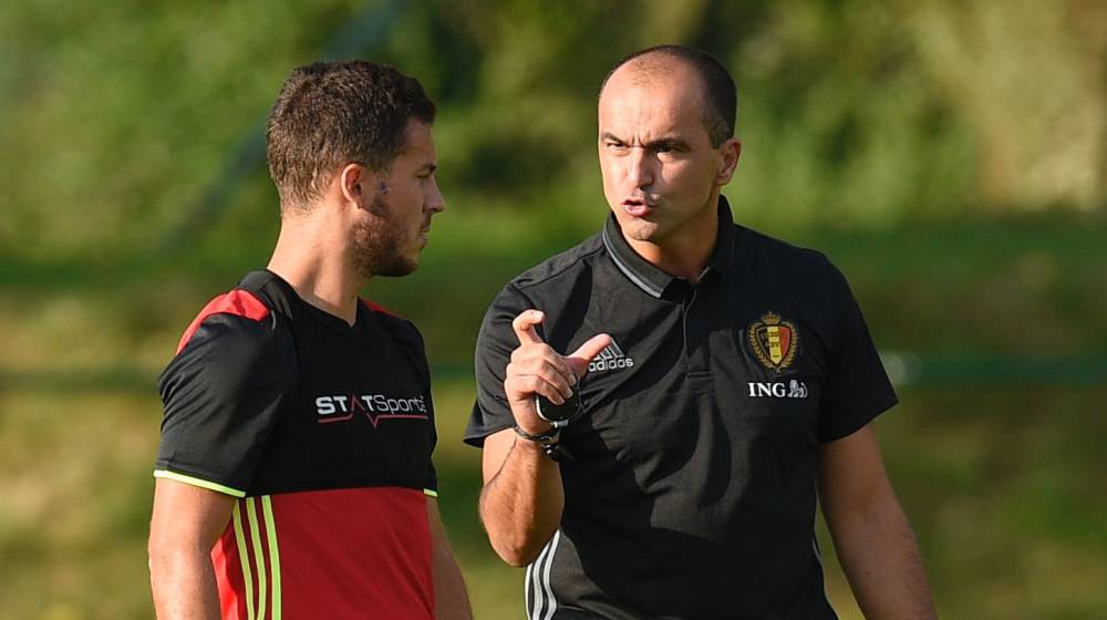 Bélgica de Roberto Martínez. Junto a Hazard. futbol.as.com