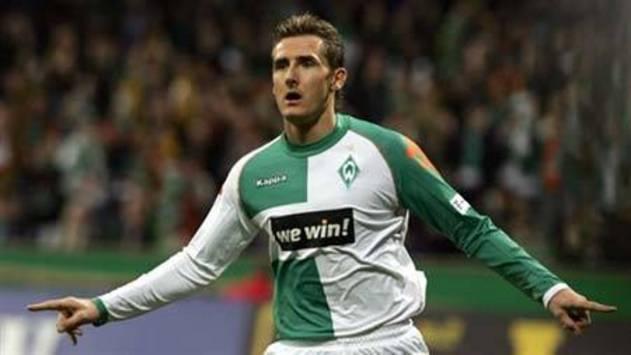 Klose en su etapa con el Bremen.