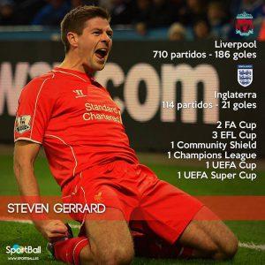 Steven Gerrard es una auténtica leyenda del Liverpool.