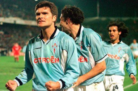 Balcánicos en la Liga. Gudelj celebra un gol con el Celta. elfarodevigo.es
