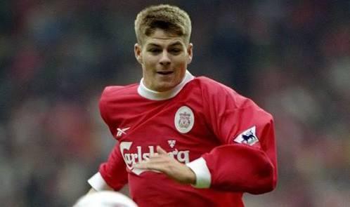 Gerrard en su primera temporada con el Liverpool.