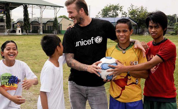UNICEF, obra protagonizada por David Beckham