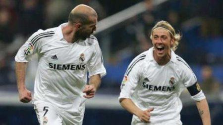 Guti junto a Zidane