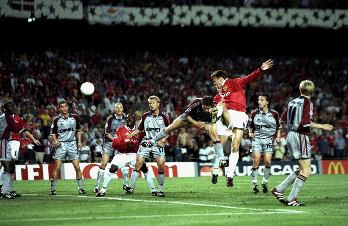 El Manchester United remonta en el descuento al Bayern Munich en la final de la Champions League 1999 con goles de Sheringham y Solskjaer