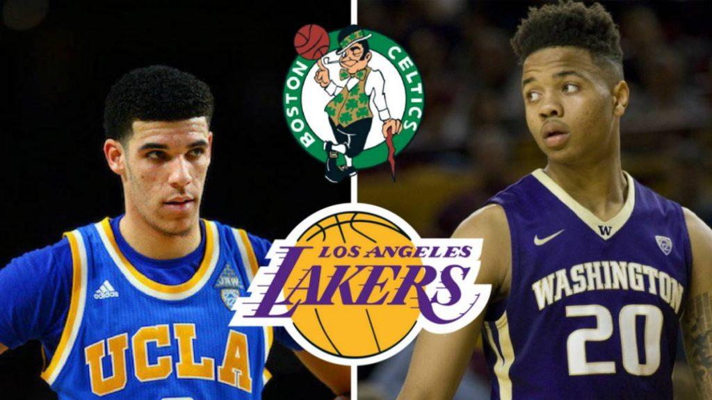 Lotería del draft 2017. En función de lo que determine la lotería, Lonzo Ball podría acabar en Lakers o Fultz en Boston como número 1.