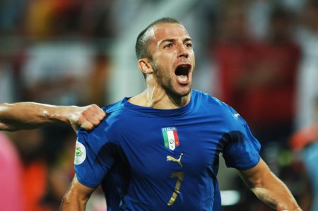 Del Piero durante el Mundial 2006 que Italia ganó.