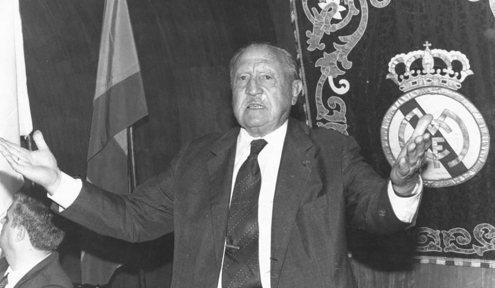 Santiago Bernabéu, presidente del Real Madrid y vicepresidente del Comité Directivo de la primera Copa de Europa.