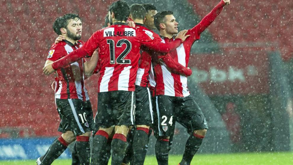Jugadores del Athletic celebrando un gol. http://www.marca.com