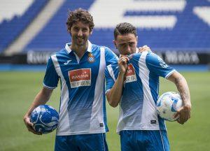 Granero y Sergio García fueron presentados a la vez como jugadores del Espanyol.