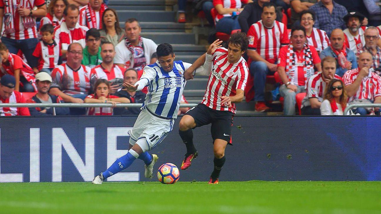 Real Sociedad 2017-18. La derrota en el derbi de San Mamés marcó un punto de inflexión en la trayectoria del equipo. (Imagen: espn.com.ar)