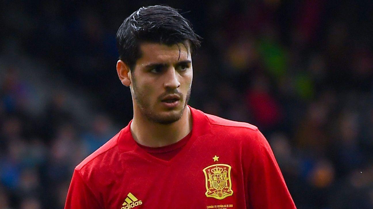 España vs Italia. Morata parte con cierta ventaja sobre Diego Costa para lucir el 9 de la Roja. (Imagen: espn.co.uk).