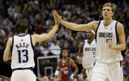 Steve Nash y Dirk Nowitzki en Dallas Mavericks