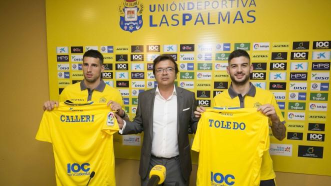 Las Palmas con Manolo Márquez. Calleri y Toledo nuevos jugadores amarillos.