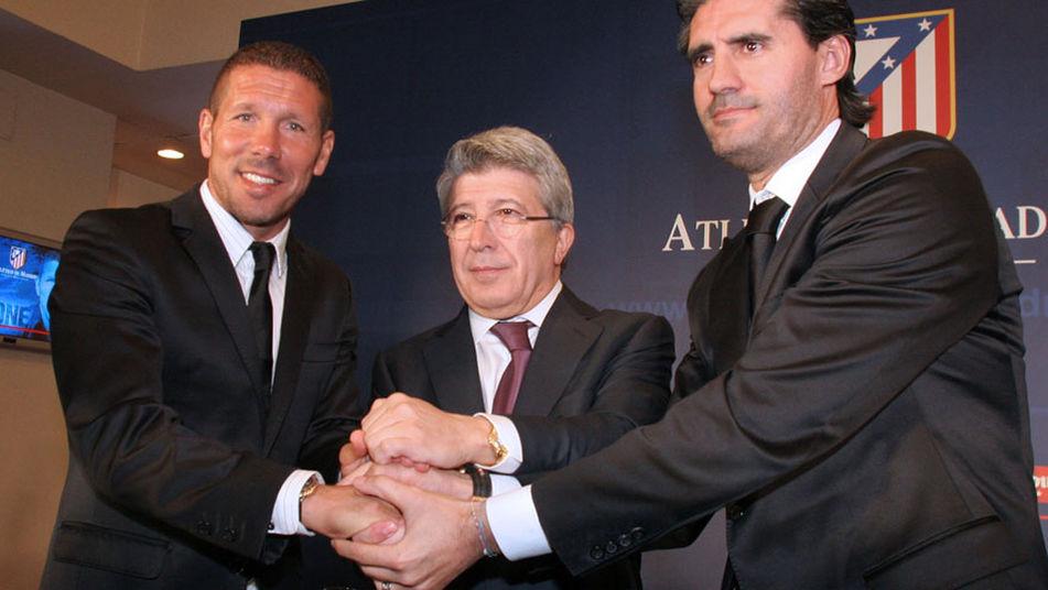El momento en que el Atlético cambió a ganador: la presentación de Simeone.