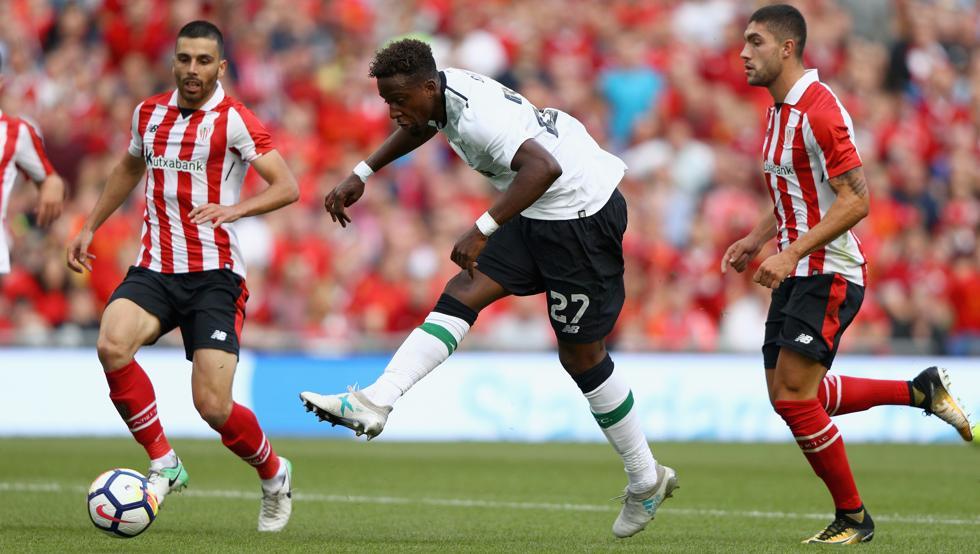 El Liverpool jugando contra el Athletic de Bilbao