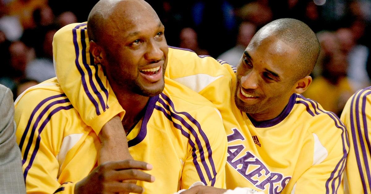 Lamar Odom con Kobe Bryant