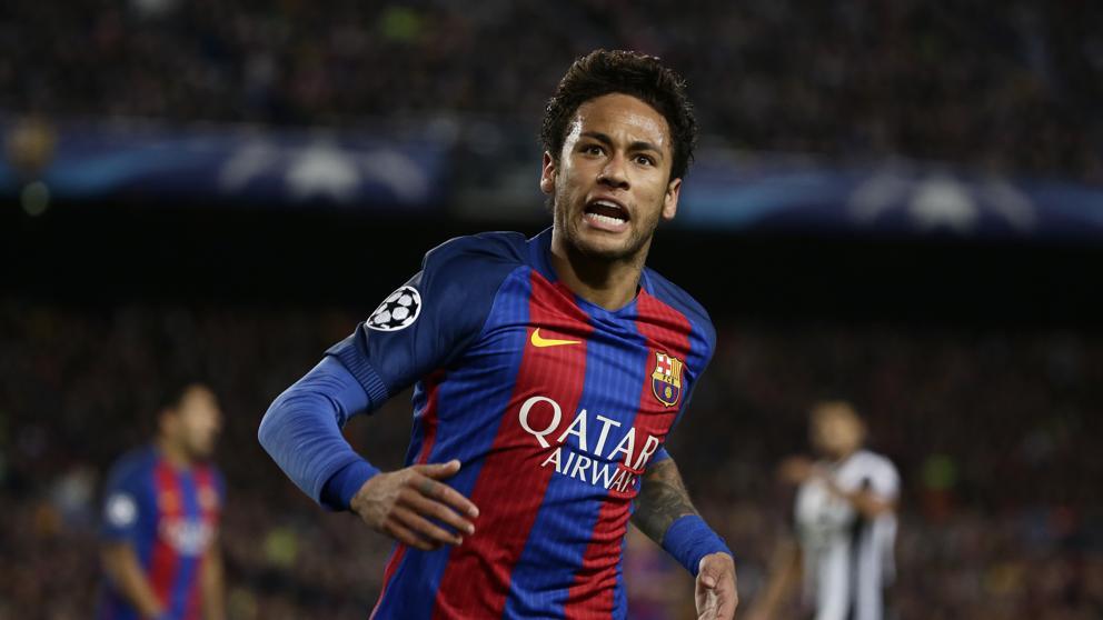 Neymar celebra un gol en el Camp Nou. Fuente: lavanguardia.com