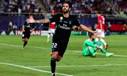 Real Madrid gana la Súper Copa de Europa ante el Man United