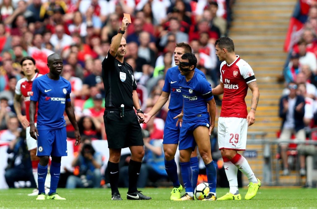 Arsenal Community Shield 2017. Pedro expulsado al minuto 80' vía FA