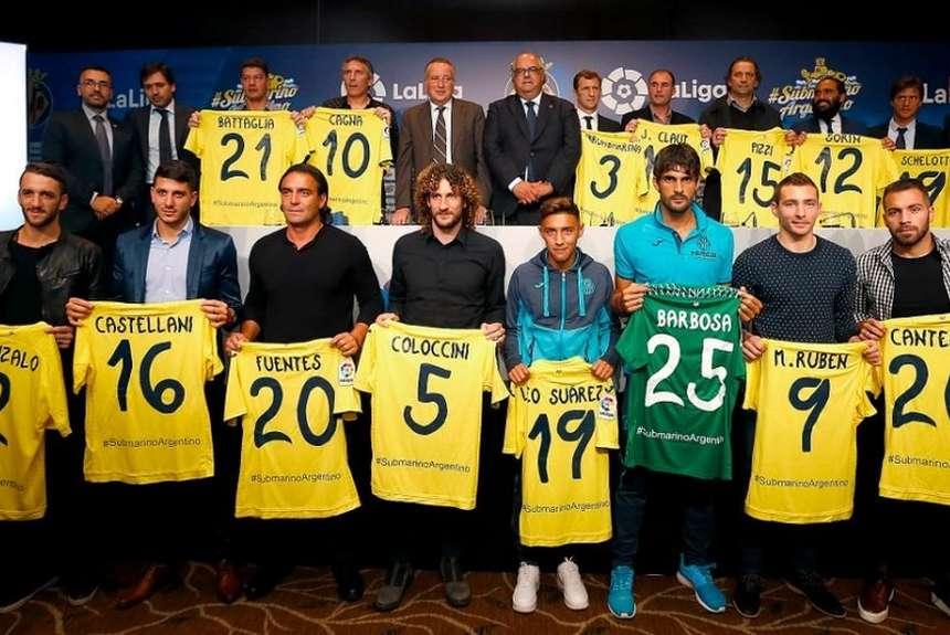 Evento del Villarreal en Buenos Aires. Argentinos que hicieron historia grande en el Villarreal, tuvieron un cálido homenaje.