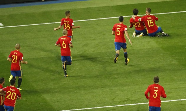 Isco brilló en el partido España-Italia. marca.com