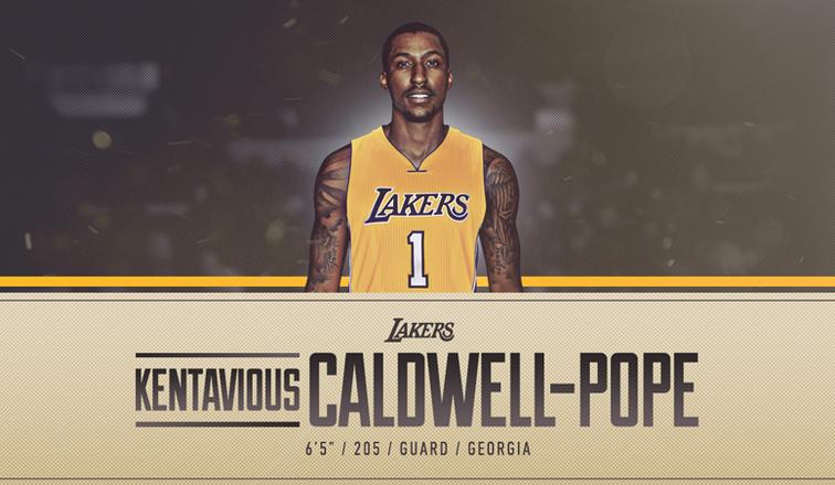 Lakers 2017 18. Caldwell-Pope y los Lakers pueden crecer mucho de la mano.