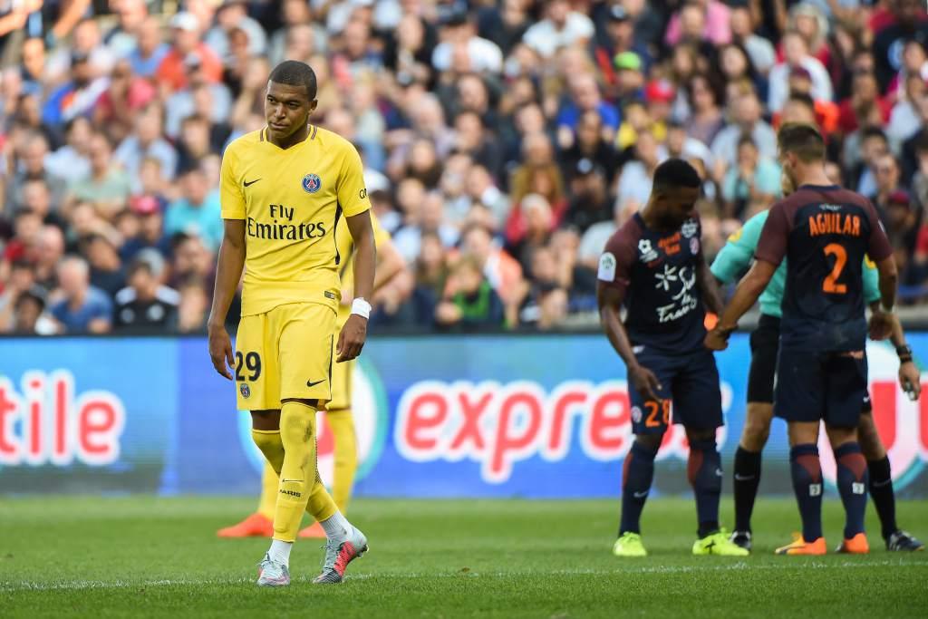 Mbappé fue uno de los que se vio superado por la defensa del Montpellier.
