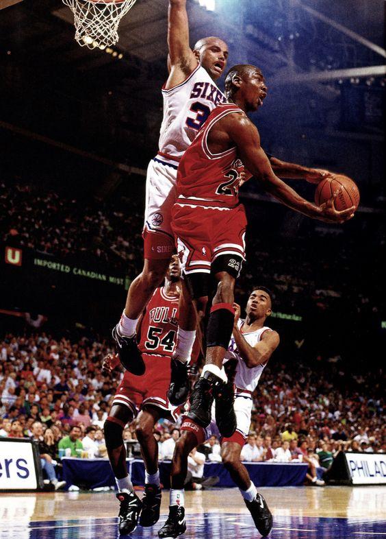 Charles Barkley (Phoenix Suns) y Michael Jordan (Chicago Bulls)