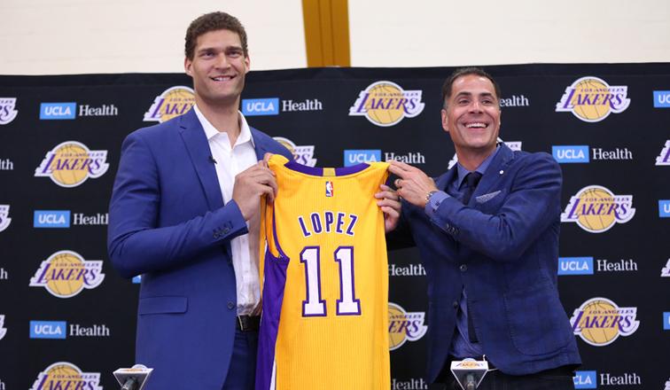 Brook Lopez mueve todo su potencial ofensivo a los Lakers 2017 18.