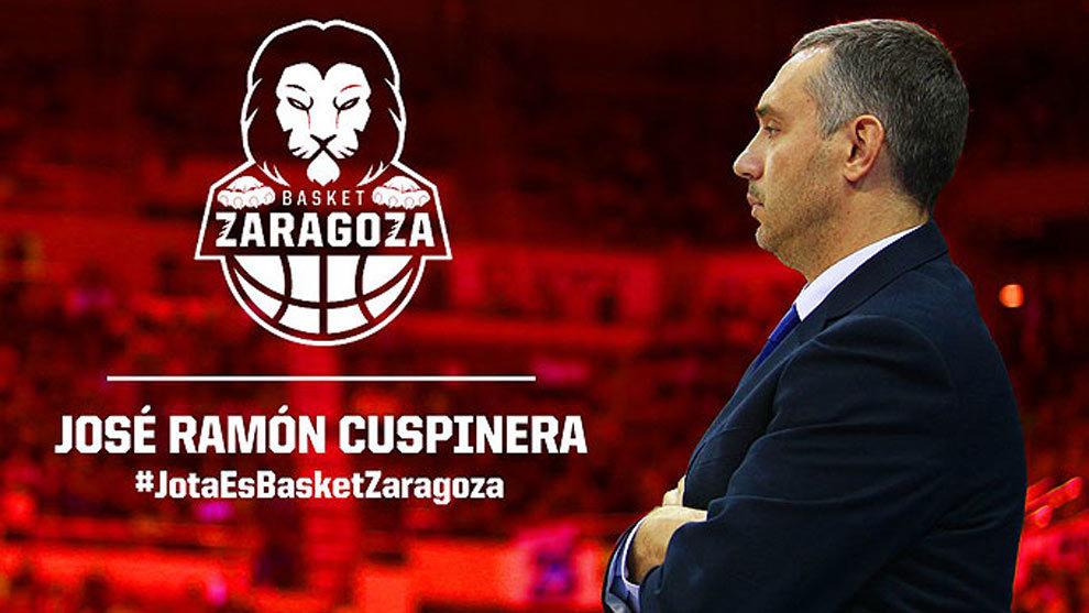 Tecnyconta Zaragoza 2017 18. Cuspinera toma los mandos de la nave.