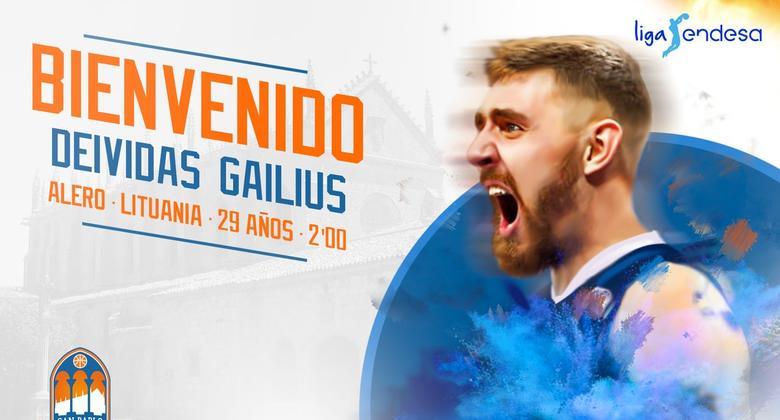 Gailius llega al San Pablo Burgos 2017 18 para ser la estrella.