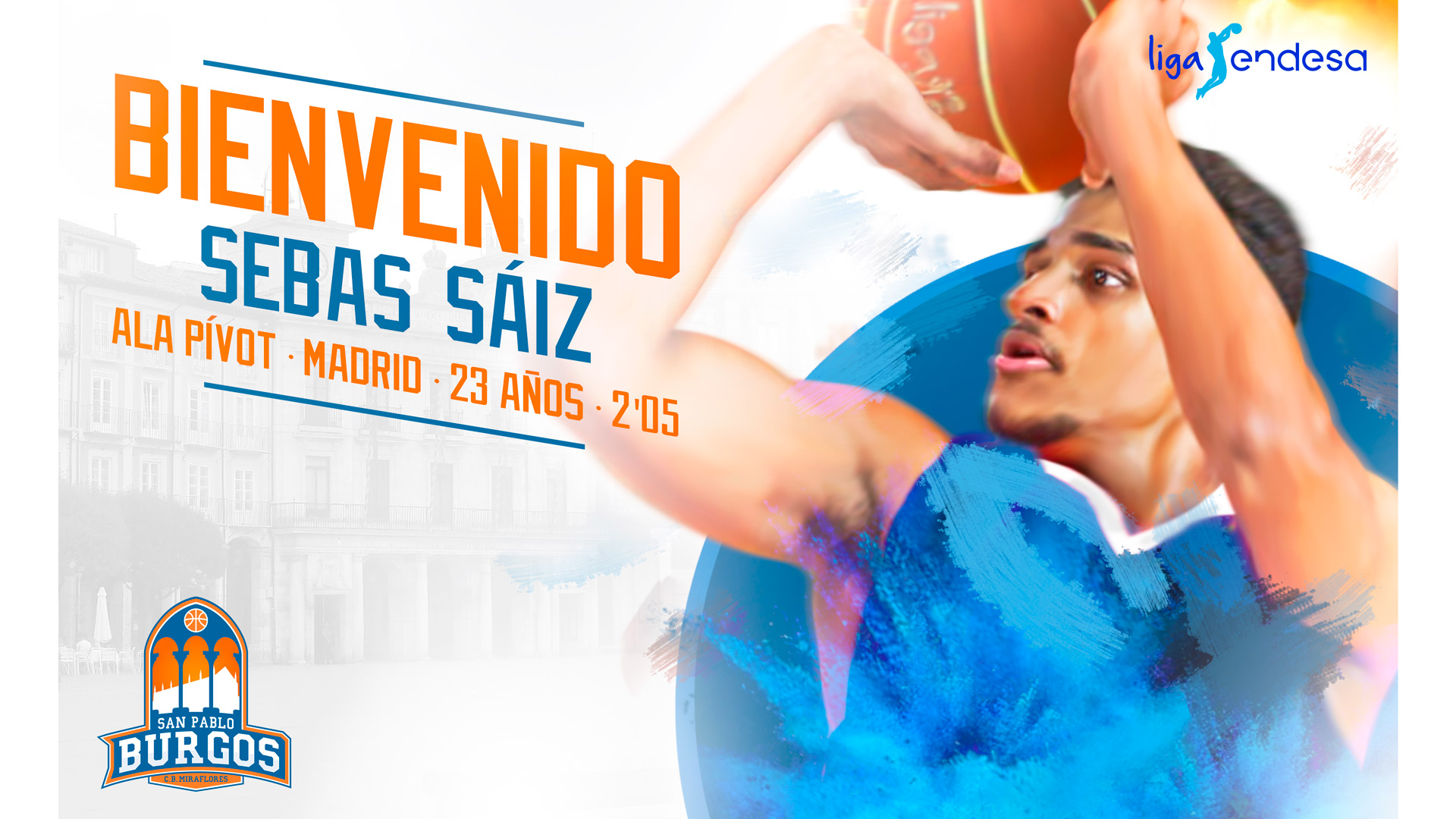 Sebas Sáiz llega al San Pablo Burgos 2017 18 tras batir récords en la NCAA.