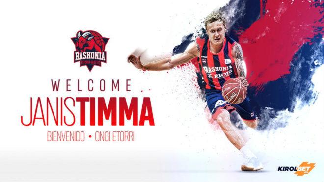 Baskonia 2017 18. Timma viene de firmar un EuroBasket completísimo.